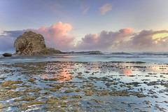 When Heaven Decends (MADdOG PHOTOGRAPHY) Tags: morning sunset seascape elephant beach sunrise canon landscape early rocks long exposure australia filter lee queensland grad currumbin 40d