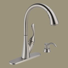 kitchen sink faucets with spray pullout or pulldown
