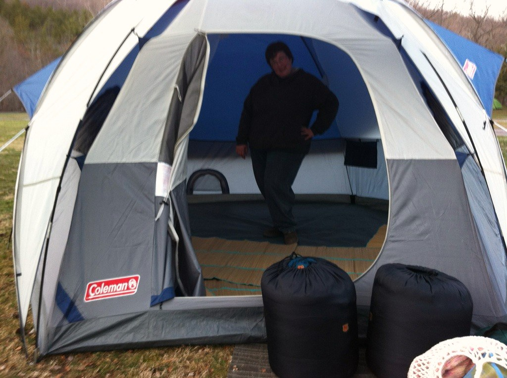 Me in the tent at Big Run State Park