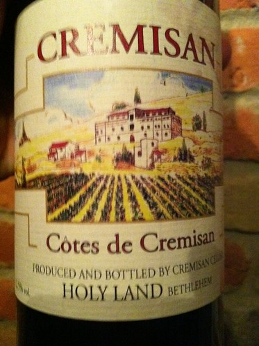 Wine from Holy Land