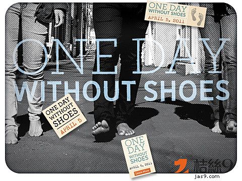 one day without shoes