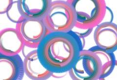 Composizione astratta con cerchi