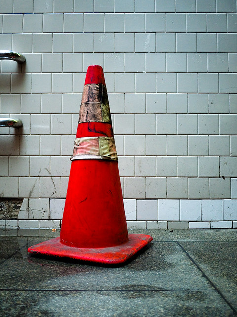 Distressed Orange Traffic Cone