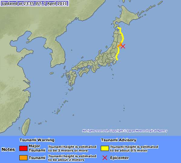 Novi potresi na Japonskem