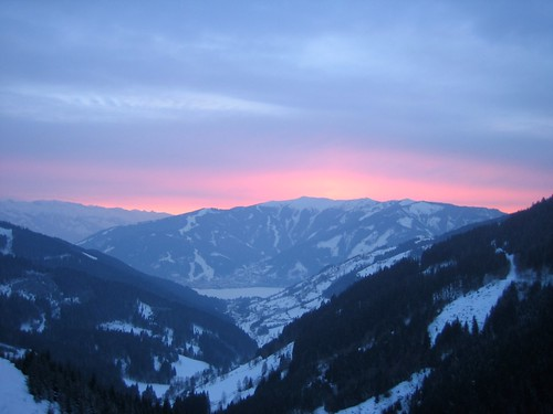 Sunset in Zell am See