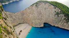 One of the most amazing bays in the world! Zakynthos Greece (Maria_Globetrotter) Tags: blue bay greece shipwreck zakynthos navagio