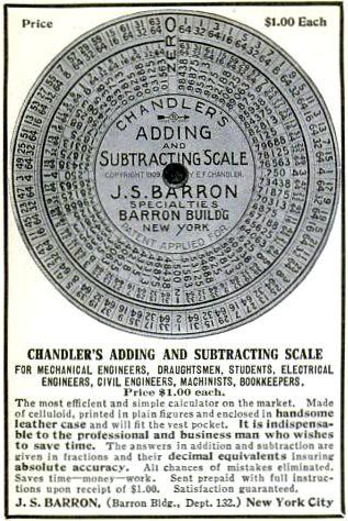 Celluloid Calculator Pop Mech May 1909