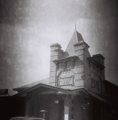 Lehigh Valley Railroad Building, Rochester, N.Y. - Shot on 60-year-old Kodak 120 B&W stock