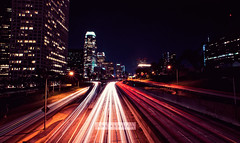 Los Angeles (isayx3) Tags: california city light cars painting la losangeles nikon long exposure downtown angle wide environmental overpass sigma freeway studios ultra f28 d3 14mm ubran plainjoe isayx3 plainjoephotoblogcom