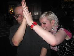 High five! (hatapota) Tags: leavingdrinks chrispaton craichouse ncvoit