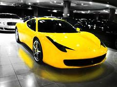 ferrari 458 italia (AZIZ Photographer) Tags: car yellow italia ferrari 458 worldcars