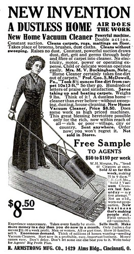 Armstrong Vacuum Cleaner Pop Mech Jan 1911