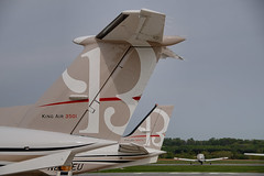 Beechcraft King Airs  KFDK  20100420 ( concord) Tags: airport md nikon aircraft maryland beechcraft beech frederick kingair fdk kfdk 04015001 concord977 aviationcolors