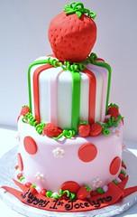 Strawberry Shortcake Cake (thecakemamas) Tags: cake strawberry birthdaycake strawberryshortcake strawberrycake strawberryshortcakecake childrenscake girlcakepinkcake