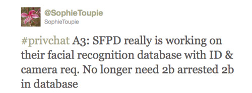 SophieToupie: SFPD really is working on their facial recognition database with ID & camera req.