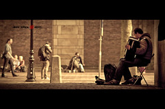 Music for the people (Jeff Krol) Tags: street city people musician music playing man male guy musicians square person gold for golden chair utrecht domtoren downtown alone notes pentax accordion streetmusic cinematic centrum k20 135mm pentaxsmc fakemoviestill k20d pentaxk20d smcpentax135mmf25 mexicanlook jeffkrol hoomark pentaxsmcpa135mmf25