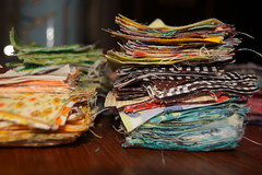 Postage Stamp Fabric Stacks