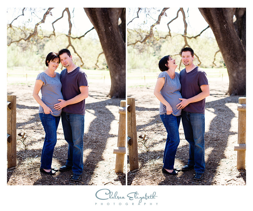 maternity portraits with husband and wife