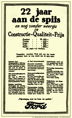 Ford LC-1926/06/23 - 22 Jaar aan de spits (Arjan N / PE1GVK) Tags: old ford vintage magazine ads advertising rotterdam factory ad retro advertisement nv ilustration fabriek vintageadvertising nederlandsche 1926 vintageads automobiel dutchmustang