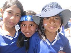 Karol, Bryllith, and Liz Mara (GirlSportWorks) Tags: girls peru students cusco olympics olimpiadas teamsports santoni girlsportworks