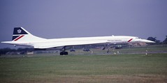 Concorde (Nigel Musgrove-2.5 million views-thank you!) Tags: concorde british airways 1985 raf fairford iat gboag