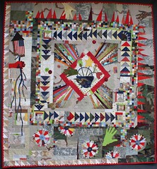 Medallion for an Army Family (Umzavi) Tags: art military textile quilting patchwork dcu acu artquilt bdu armywife medallionquilt liberatedpiecing
