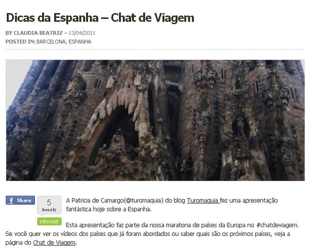 Espanha-Chat de Viagem