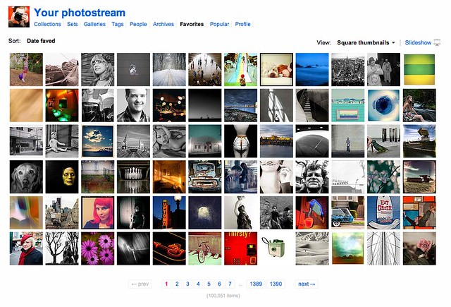 After Six and a Half Years on Flickr, Today I Faved My 100,000th Photo