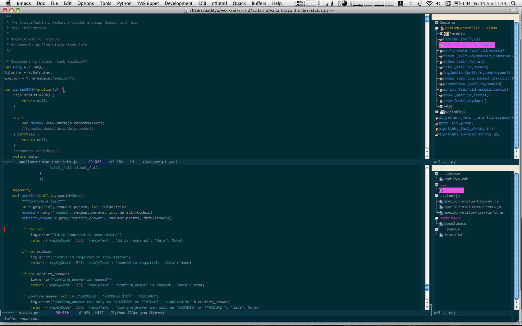 Emacs on OS X