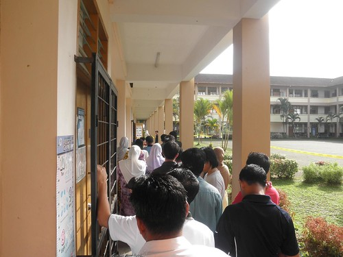 Queuing at Polling Station