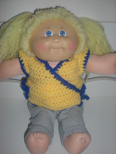 crochet wrap jumper for cabbage patch doll