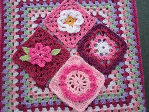 Pretty Flower Squares!