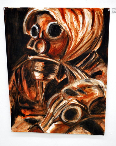 Gas Mask Still Life #2 in Oil Paint & Charcoal by Amanda