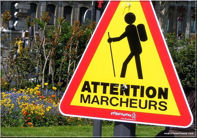 Panneau Attention Marcheurs