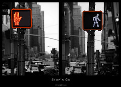 Stop'n Go (Daniel Wildi Photography) Tags: new york city color lights traffic manhattan go stop keying