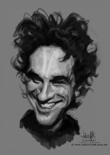 Digital caricature of Daniel Day Lewis - 1
