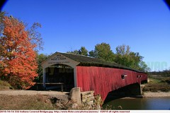 2010-10-16 552 Indiana Covered Bridges West Union Bridge (Badger 23 / jezevec) Tags: wood bridge usa architecture america puente countryside wooden madera country indiana ponte cover covered pont brug  brcke holz madeira hout bois 2010 legno ural    ponticello            lindiana   20101016