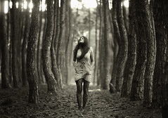 (Dylan-K) Tags: trees woman white black girl forest nikon alone f14 85mm australia queensland nikkor d90 dylank