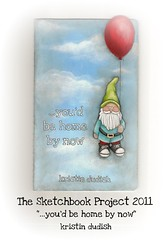 Sketchbook Project cover intro (kristindudish) Tags: travel sky art home clouds painting photography gnome balloon floating sketchbook sneakers converse adventures artjournal sketchbookproject kristindudish