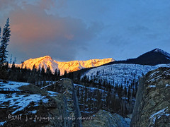 Last Light By The Cut (johnfuj) Tags: mountain mountains nature ecology scenery can mount land environment environmentalism ecosystem