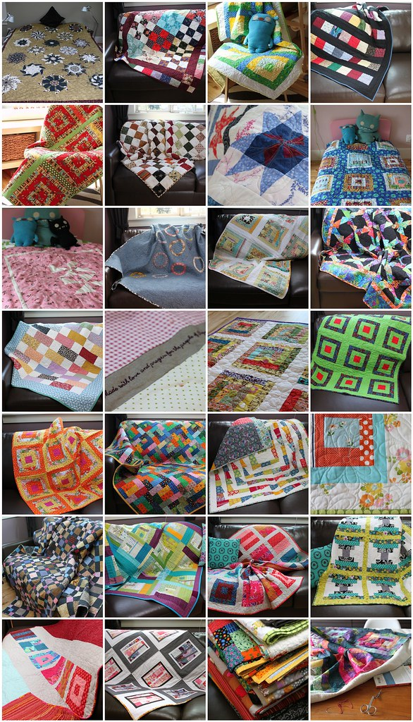 Quilts for Quake Survivors - Japan Shipment all quilts!
