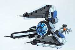 LegoImperialDroidTrinterceptor01 (madLEGOman) Tags: from buzz jack star starwars fighter lego bricks contest imperial wars hybrid droid interceptor fbtb mckeen trifighter bothans buzzdroid madlegoman trinterceptor