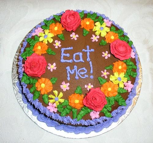 """""""Eat Me"""" Flower Cake 1"""