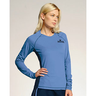 Promotional Items-alo - Ladies' Long Sleeve Colorblock T-Shirt 17024