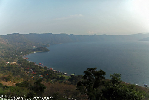 View of Lago de Coatepeque - it's a crater lake