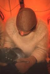Feoder Scrapes Ice from his boots (Weber Arctic Expeditions) Tags: ice richard misha weber northpole frostbite arcticocean polarexpedition malakhov wardhuntisland fischerskis polarbridge polartraining capearkticheskiy dimitrishparo shparo