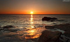 Parton Sunset - Image 1 (.Brian Kerr Photography.) Tags: light sunset sea sky seascape colour canon landscape rocks exposure waves cumbria whitehaven parton eos5dmkii briankerrphotography