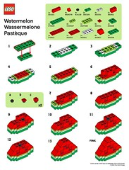 LEGO Store MMMB - July '10 (Watermelon) Instructions (TooMuchDew) Tags: holiday lego july watermelon melon legostore wassermelone july10 pastque citrulluslanatus legoimaginationcenter legoinstructions mmmb legoclub toomuchdew monthlyminimodelbuild licmoa minimodellbauevent