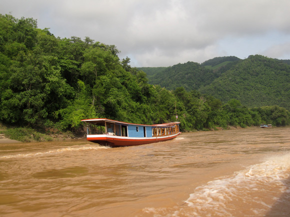 Boating on the Mekong River