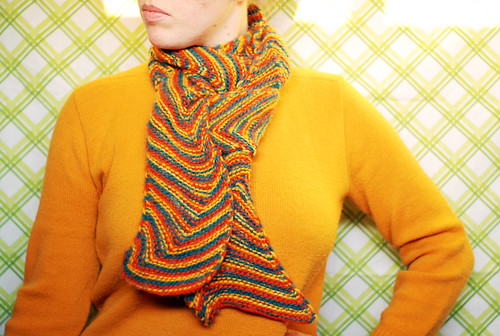 waving chevron scarf